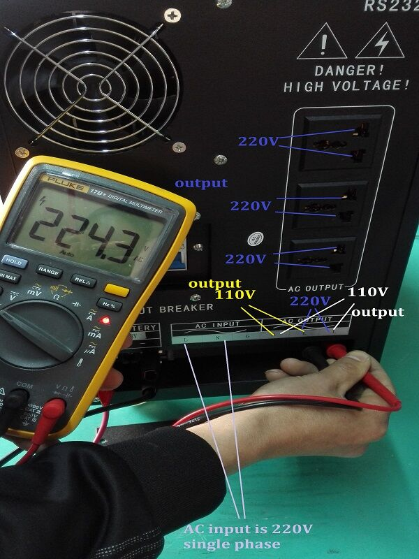 dual voltage output inverter