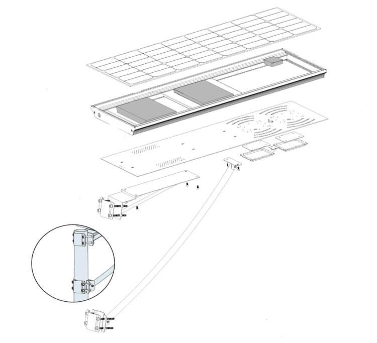 solar panel street lights