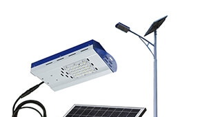 solar led street light system pv panel and lamp separated design