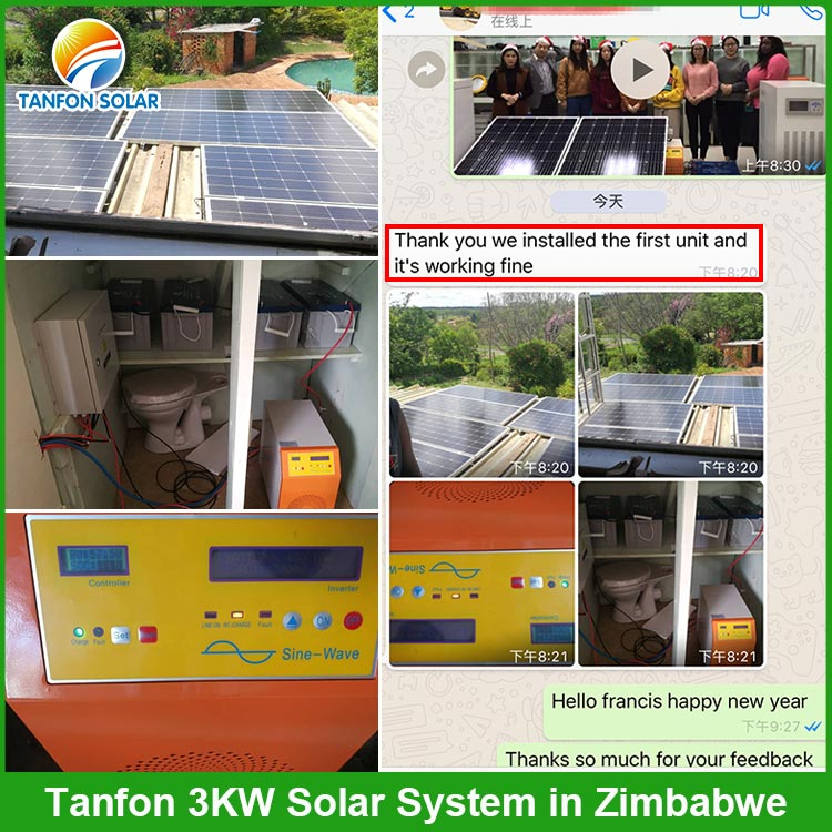 Tanfon off grid solar system in Africa