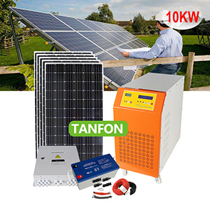 Residential solar power system off grid 10kw