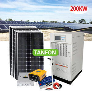 Off Grid 200KW Solar Plant System Industrial Factory Use