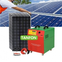 Portable solar panel kit generator 1kw inverter battery for DC and AC load
