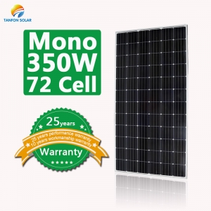 350 watt 72 cell mono solar panels for house
