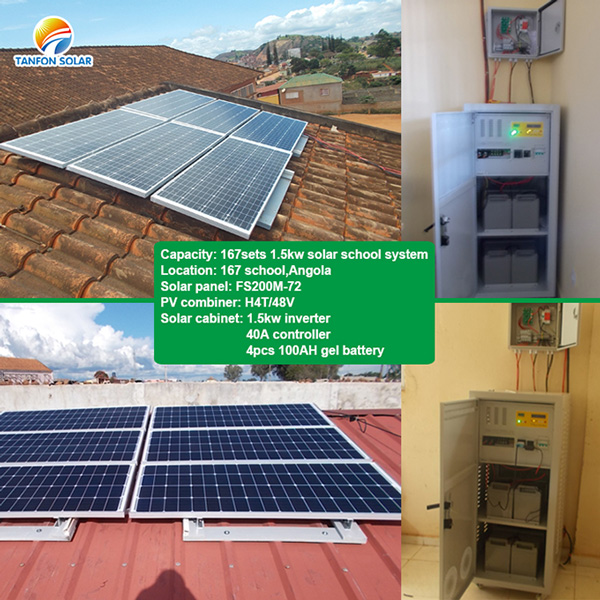 Tanfon 1.5kW solar system for school