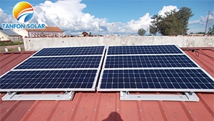 TANFON 167 sets 1.5kW solar system for Angola education system