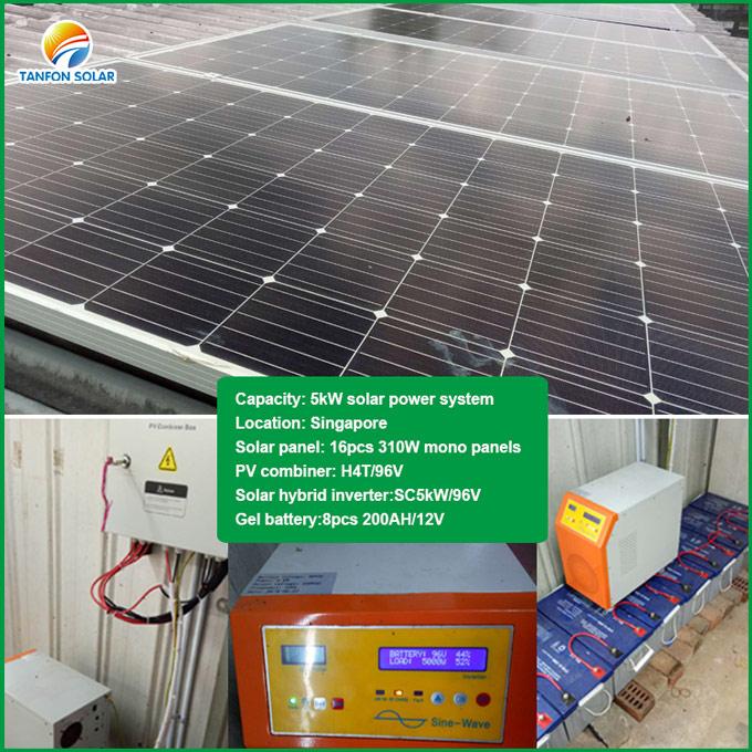 Tanfon off grid 5kW solar system in Singapore