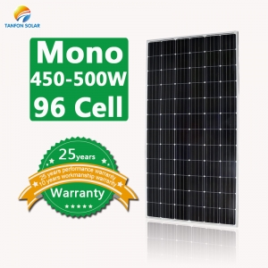 450W 480W 500W mono 96 cell high efficiency solar panels