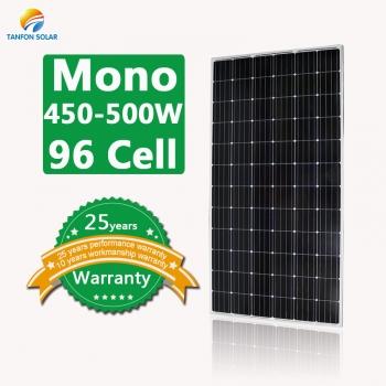 450W 480W 500W high efficiency solar panels