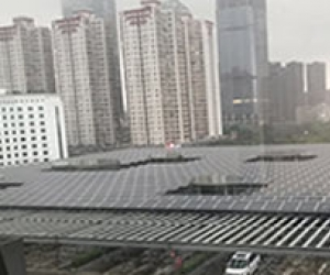Solar Carport for bus station-green building