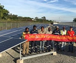 Tanfon 200KW solar power project in Papua New Guinea installation