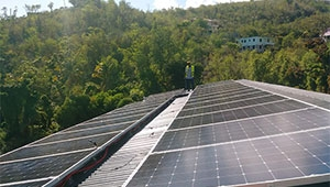 Tanfon 10kw solar system with batteries project in The Commonwealth of Dominica