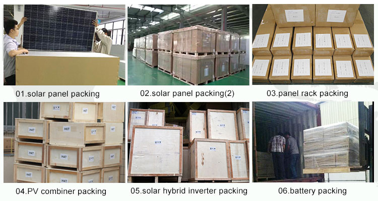 4kw solar irrigation system - packing
