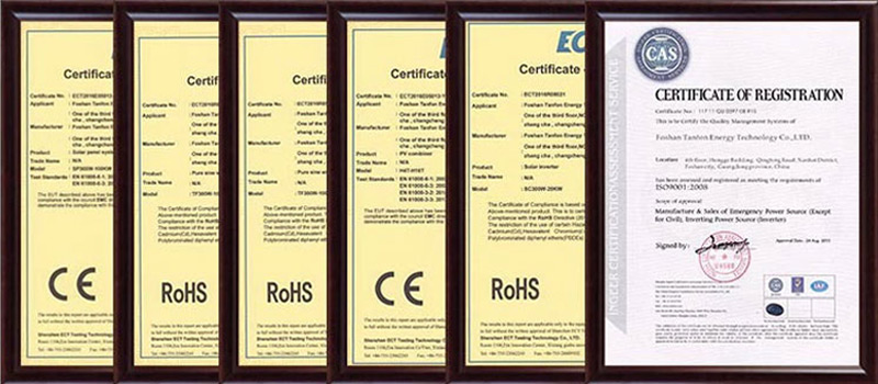4kw solar irrigation system - Certificates