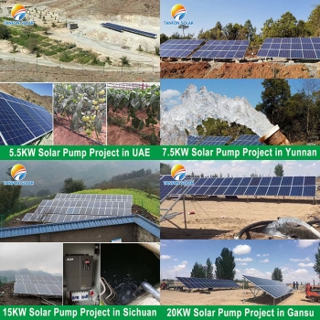 5.5KW solar water pumping system