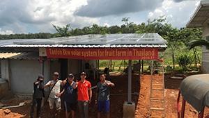 Off-grid 8kw solar system for fruit farm in Thailand