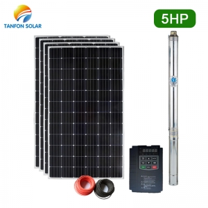 4kw solar irrigation system 5.5hp agriculture solar pump