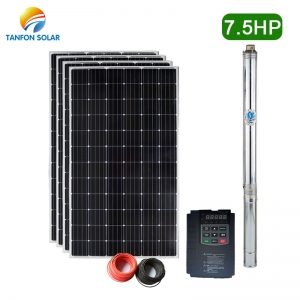 Tanfon 5.5KW solar water pumping system 7.5HP solar submersible pump