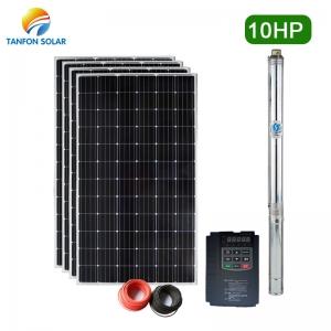 Tanfon 10hp solar water pump 7.5kw solar pumping system