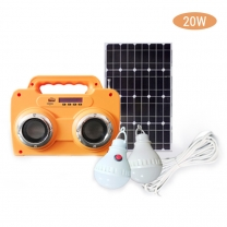10W portable solar generator kit with battery