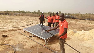Installation of a solar pumping system at Mboro