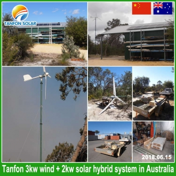 wind solar hybrid system in New Zealand