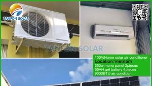 Vietnam 100% off grid DC solar air conditioner