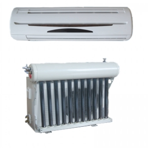 Hybrid vacuum tube solar air conditioner 9000BTU