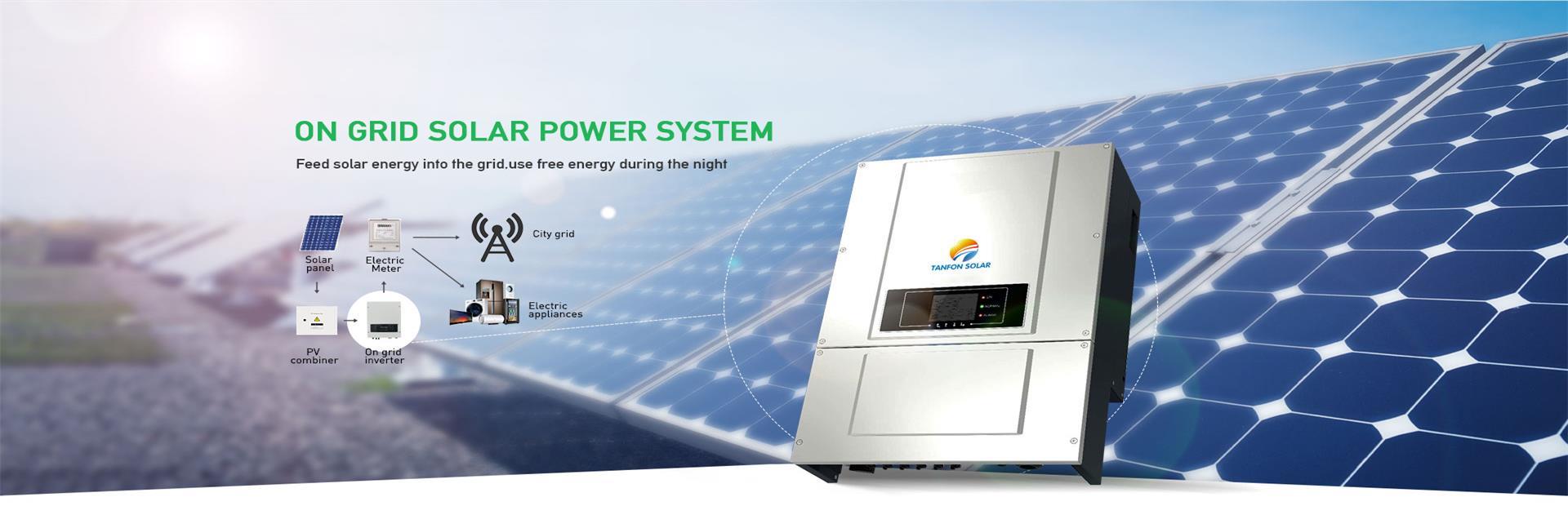 full solar power system set work with diesel generator