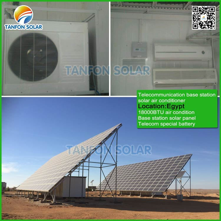 Telecommunication solar air conditioner