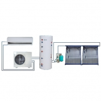 12000Btu to 48000Btu Trinty System solar A/C with hot water 100L to 500L
