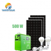 500W mini portable solar power system generator