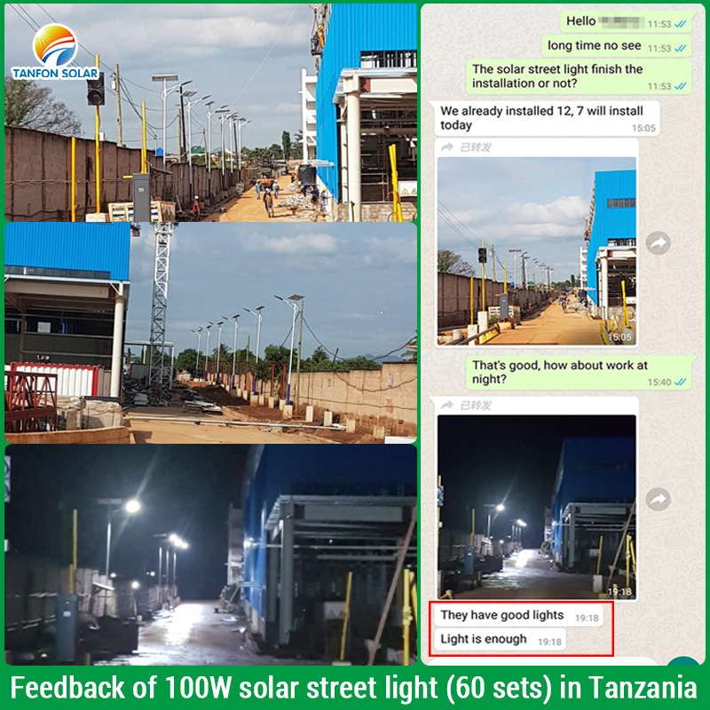 Tanzania solar street light