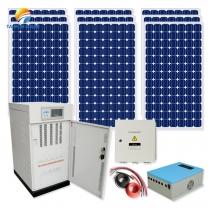 30 kw panels batteries complete set work with diesel generator hybrid for hotel