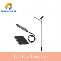 Split solar streert light C-SLS serise lithium ion 100w solar street light