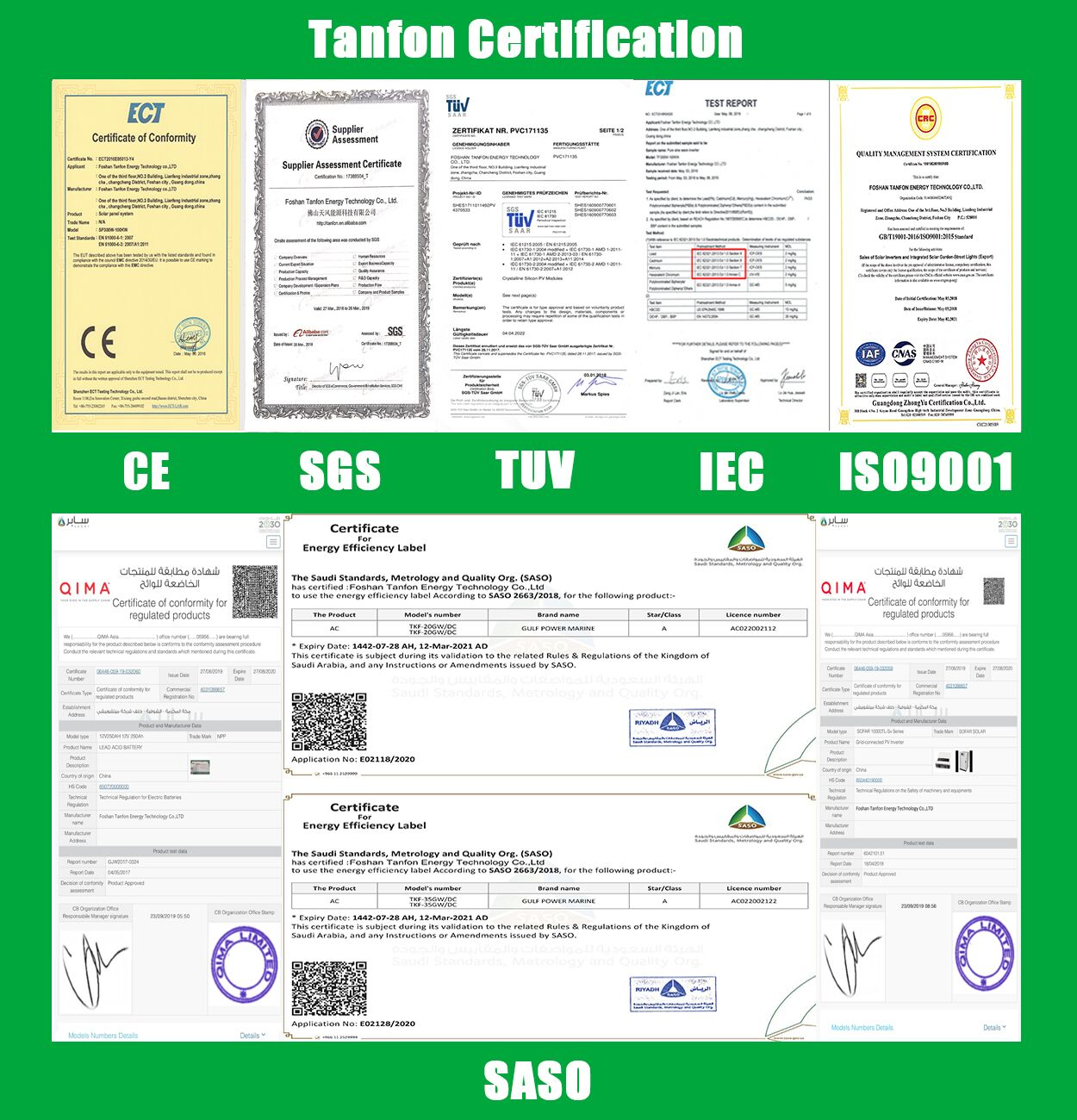 solar project certification
