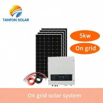 5kw solar power system on grid ground mounting