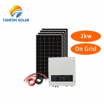 On grid solar home system 2 kw Complete 2kw panel on roof