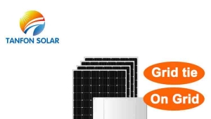 on grid solar panel system power for home