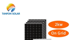 2kw 2000w customized on grid solar system with inverter mounting structure