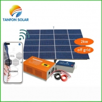2kw solar panel system for home with APP