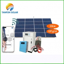 Tanfon 30kw solar installation with APP