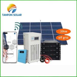 Tanfon 20kw solar power system with APP