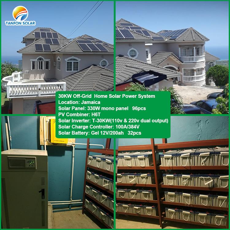 30kw solar panel installation