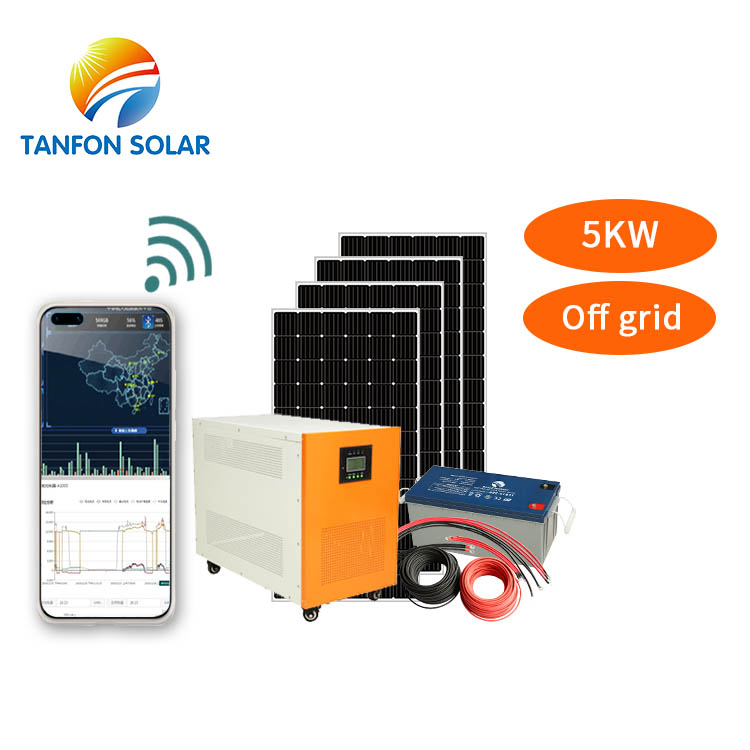 5kw off grid solar power system stand alone 5 kw installed on roof