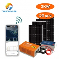 3kw Hybrid solar system for house with APP