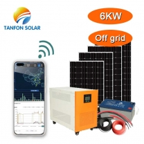 Tanfon 6kw solar system for house with APP