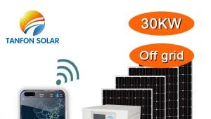 Tanfon 30kw solar installation with APP