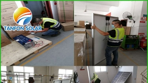 Tanfon solar street light inspected and load container