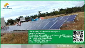 25KW solar battery system for village